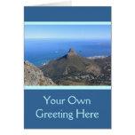 La montaña máxima del diablo, Cape Town Felicitaciones