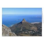 La montaña máxima del diablo, Cape Town Tarjetón
