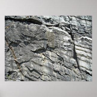 La montaña oscila la textura de piedra póster