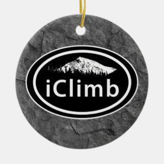 """La montaña oval del """"iClimb que sube"""" marca el Adorno Redondo De Cerámica"""