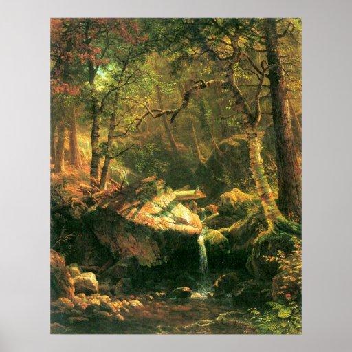 La montaña por Bierstadt Poster