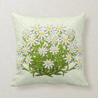 La montaña suiza de Edelweiss florece la almohada