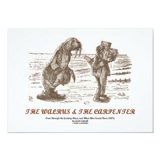 La morsa y el carpintero (a través del espejo) invitación 12,7 x 17,8 cm