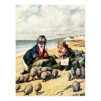 La morsa y el carpintero tarjetas postales