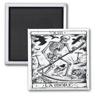 La Mort Tarot Card 2 Inch Square Magnet
