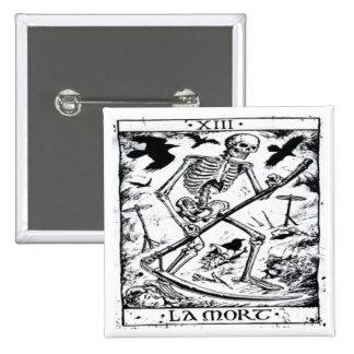 La Mort Tarot Card Pinback Button