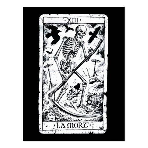La Mort Tarot Card Postcard | Zazzle
