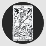 La Mort Tarot Card Round Stickers