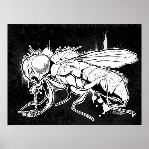 """La mosca """"autorretrato """" póster"""