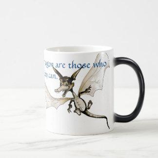 la mosca del dragón los que puedan ver un dragón e taza