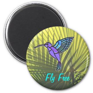 La mosca libera imán redondo 5 cm