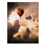 La mosca libera mi globo del aire caliente - la ed tarjeta postal