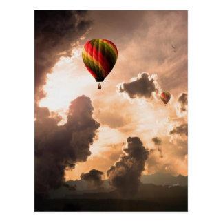 La mosca libera mi globo del aire caliente - la postal