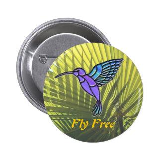La mosca libera pin redondo 5 cm
