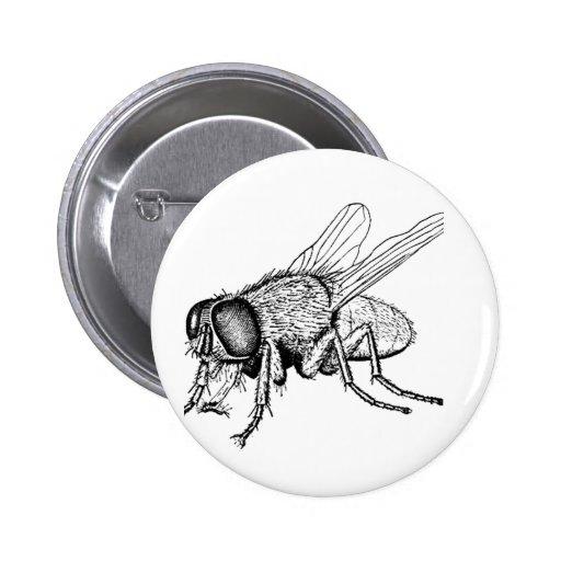 La mosca pin redondo 5 cm