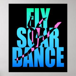 La mosca se eleva danza póster