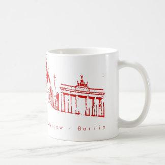 LA, Moscow, Berlín Mug Taza Básica Blanca