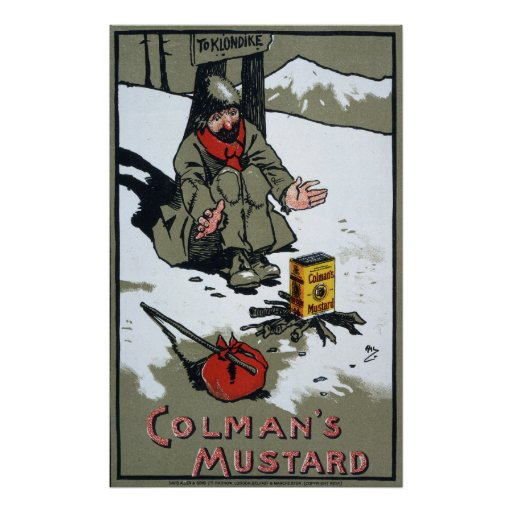 La mostaza que se calienta de Colman, 1900 Poster