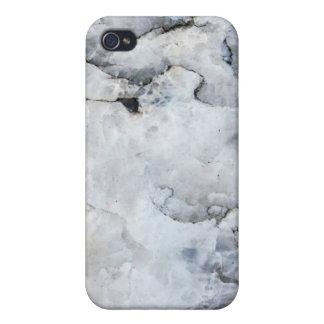 La mota de mármol cupo el caso de Shell duro para  iPhone 4/4S Fundas