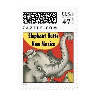 La mota retra New México nanómetro del elefante Sellos