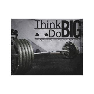 La motivación de la inspiración cita el poster del impresión en lienzo