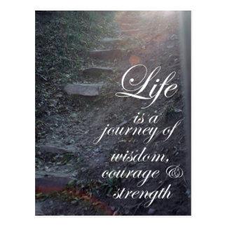La motivación inspirada de las postales inspira