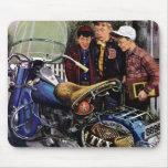 La motocicleta de Tex Alfombrillas De Ratón