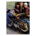 La motocicleta de Tex Tarjeta De Felicitación