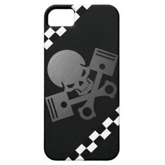 La motocicleta fresca del coche del cráneo y del p iPhone 5 Case-Mate funda
