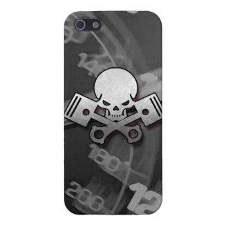 La motocicleta fresca del coche del cráneo y del p iPhone 5 cárcasas