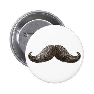 La Moustache (Light) 2 Inch Round Button