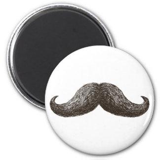 La Moustache (Light) 2 Inch Round Magnet