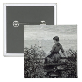 "La muchacha del Fisher, a partir de la ""hora del o Pin Cuadrada 5 Cm"
