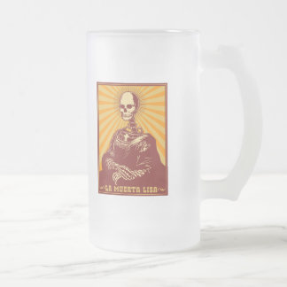 La Muerta Lisa Glass Beer Mugs