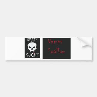 La muerte chupa… a la pegatina para el parachoques pegatina para auto