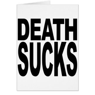La muerte chupa tarjeta de felicitación