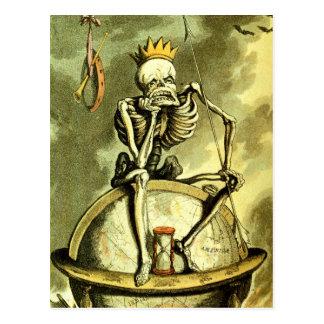 La muerte conquista el globo tarjetas postales