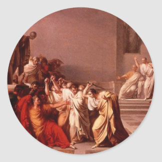 La muerte de César Pegatina Redonda