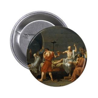 La muerte de David de Sócrates Pin Redondo De 2 Pulgadas