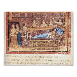 La muerte de Dido por DES Vergilius Vatican de Invitación 10,8 X 13,9 Cm