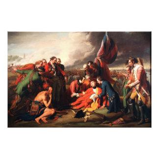 La muerte de general Wolfe de Benjamin 1770 del oe Fotografías