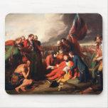 La muerte de general Wolfe de Benjamin 1770 del oe Alfombrillas De Raton