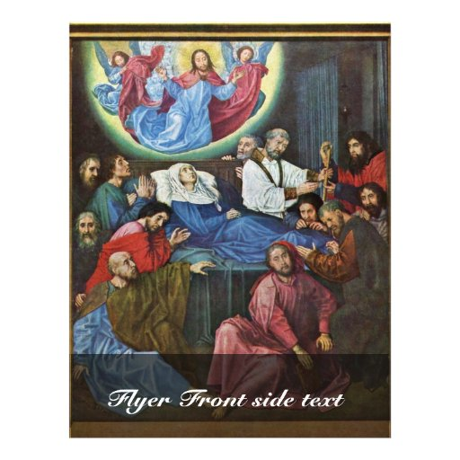 """La muerte de la Virgen cerca va Hugo Van Der (el m Folleto 8.5"""" X 11"""""""
