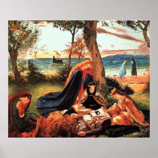 La muerte de rey Arturo Póster