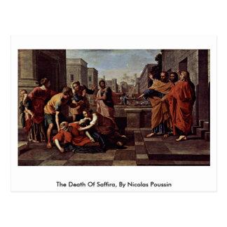 La muerte de Saffira, por Nicolás Poussin Postales