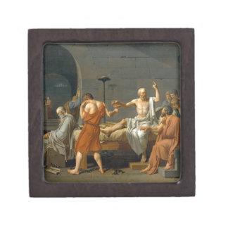 La muerte de Sócrates de Jacques-Louis David Caja De Recuerdo De Calidad
