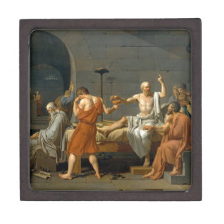 La muerte de Sócrates de Jacques-Louis David Cajas De Recuerdo De Calidad