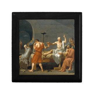 La muerte de Sócrates de Jacques-Louis David Joyero Cuadrado Pequeño