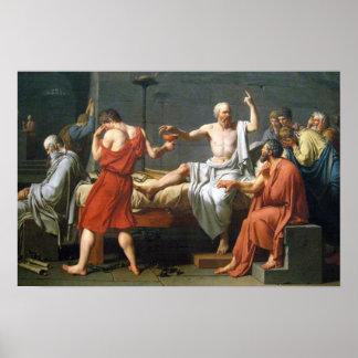La muerte de Sócrates de Jacques-Louis David Póster