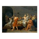 La muerte de Sócrates de Jacques-Louis David Tarjeta Postal